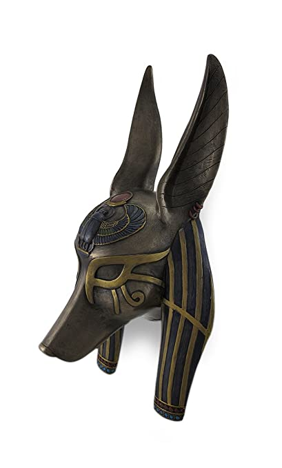 Amazon.com: Veronese Resin Wall Sculptures Mask Of Anubis The Jackal God Sculptured Wall Hanging 11 X 3.75 X 6 Inches Brown: Home & Kitchen