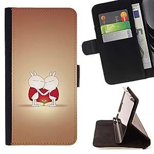 - Cute Cute Love Couple - - Monedero PU titular de la tarjeta de cr????dito de cuero cubierta de la caja de la bolsa FOR HTC Desire 820 RetroCandy