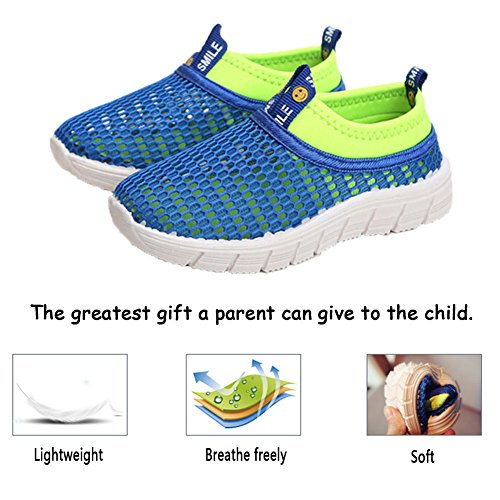 CIOR Kids Breathable Water Shoes Slip-on Sneakers For Running, Pool, Beach, Toddler/Little Kid/Big Kid,sk205yellow,26 5