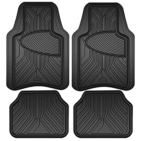 Amazon Com Armor All 78846 Black Rubber Interior Floor Mat 4 Piece