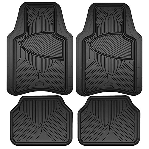 Custom Accessories Armor All 78846 Black Rubber Interior Floor Mat, 4 Piece