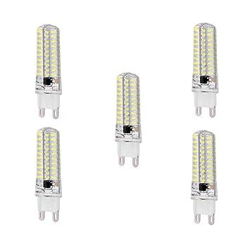Nnycir 5PCS Dimmable AC100-130V Bombillas LED G4 / GY6.35 / G9 LED