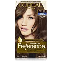 L'Oreal Paris Superior Preference Fade-Defying Color + Shine System, 6C Cool Light Brown(Packaging May Vary)