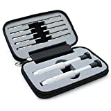 JCC 12-pieces Mini Pocket Precision Screwdriver Set Repair Tool Kit Philips Torx Slotted Screwdriver Set for Eyeglass, Glasses, Watch, Smartphone,electronics,laptop and Other Precision Devices