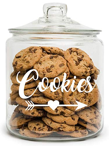 Cookie Jar - Personalized Cookie Jar - Custom Cookie Jar - Christmas Cookie Jar - Treat Jar - Gift for Mothers Day - Glass Cookie Jar - Cookie Jar with Lid