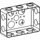 Orbit DHB-3 Electric Box, 2 1/8'' Deep Handy Box w/CKO & 1/2'' Knockouts3-Gang