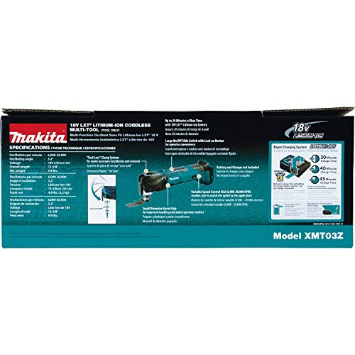 Makita XMT03Z 18V LXT Lithium-Ion Cordless Multi-Tool, Tool Only
