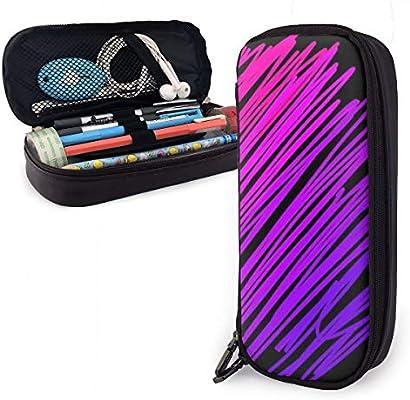 Estuche para lápices con diseño de líneas de dibujo, color rosa y morado, para niños y niñas: Amazon.es: Oficina y papelería