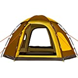 Yongtong Backpacking Tent Big Size 4-6 person Double Layer Tents Automatic Pop Up 2 Doors 2 Windows Anti-UV Windproof Waterproof with Carry Bag ...  sc 1 st  Amazon.com & Amazon.com: 6 Person - Backpacking Tents / Tents: Sports u0026 Outdoors