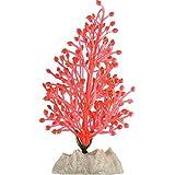 GloFish Small Fluorescent Plant for Aquarium Decoration, Orange