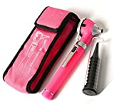 Otoscope - Compact Pocket Size Fiber ENT Optic Otoscope Pink Color by ZZZRT traders