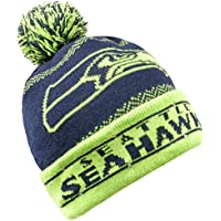 Forever Collectibles NFL Seattle Seahawks LED Pom Pom Knit Hat, Blue, One Size