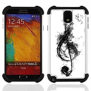 /Skull Market/ - Music For Samsung Galaxy Note3 N9000 N9008V N9009 - 3in1 h????brido prueba de choques de impacto resistente goma Combo pesada cubierta de la caja protec -