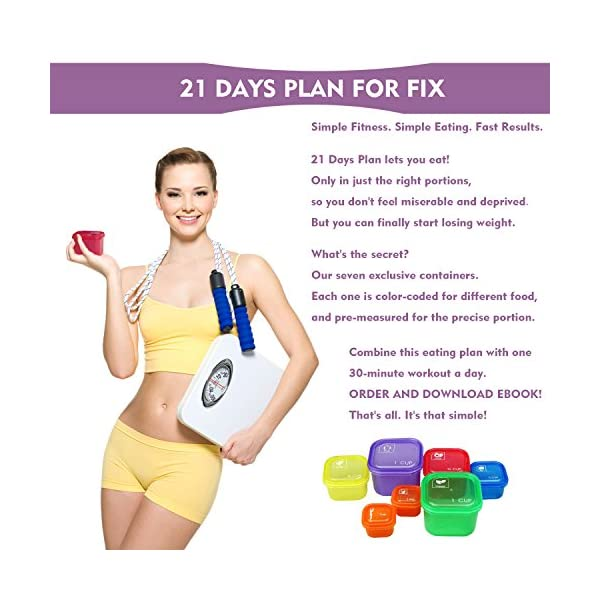 21 Day Meal Portion Containers and Food Plan – Portion Control Containers by GAINWELL 51e74cH2ABL