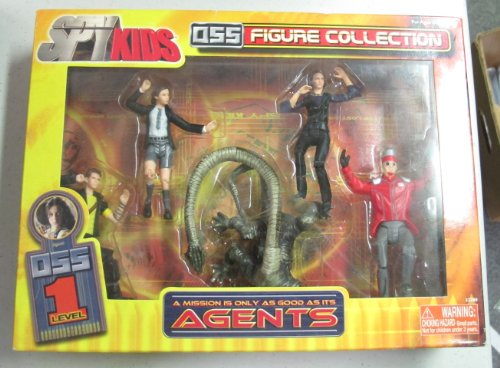 Vintage Spy Kids Action Figure Set