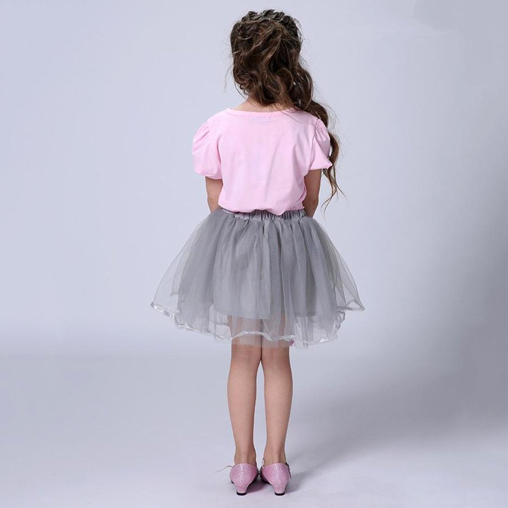 aa7ad8f6 Kids Girl Toddler Baby Girl Summer Casual Short Sleeve Cute Cat ...