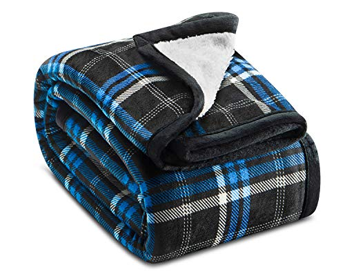 Ashford Brooks Printed Sherpa Blanket