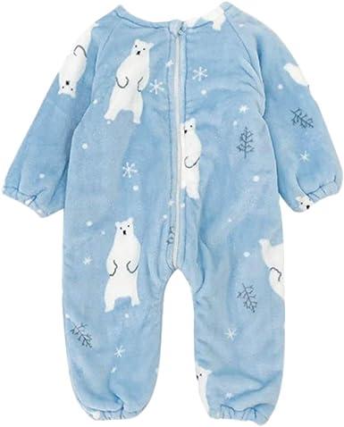 DEBAIJIA Bebé Mameluco 0-3T Infantil Peleles Recién Nacido Monos Niños Camisones Niña Pijama Niño Ropa de Dormir Unisexo Franela Cálido