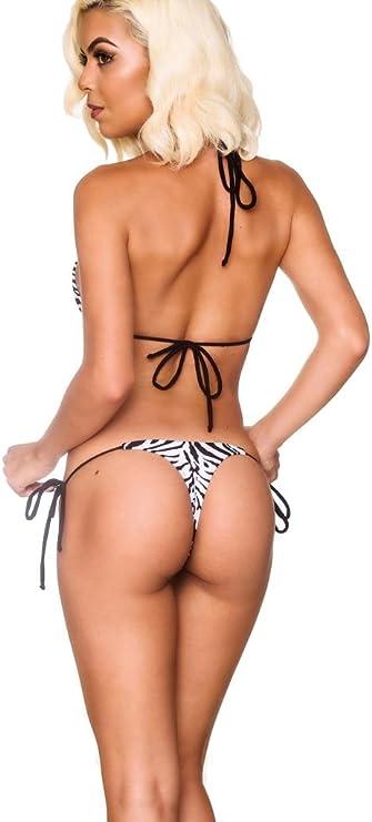Coqueta Bathing Suit Thong Women/'s Palms Print Bikini Floral Whaletail Swimwear