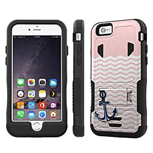 NakedShield Iphone 6 (4.7) (Nautical Anchor - Pink) Armor Tough ShockProof Phone KickStand Case