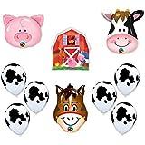 Barn Farm Animals Birthday Party Cow, Horse, Pig, Barn Balloons Decorations Supplies