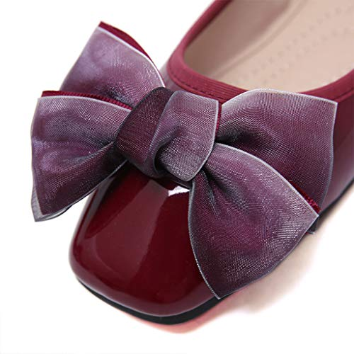 Donna Scarpe Dimensioni Di Basse arco Eleganti Ballerine Comode Pigre Sandali Grandi Wine In Da Vernice Donna Arqw8AP