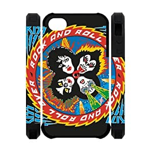 Personalized American Face Paint Rock Band iPhone 4 4S Case KISS Band iPhone 4 4S Cover Plastic