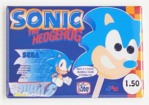 Sonic the Hedgehog Ice Cream Sign Fridge Magnet (2 x 3 inches)