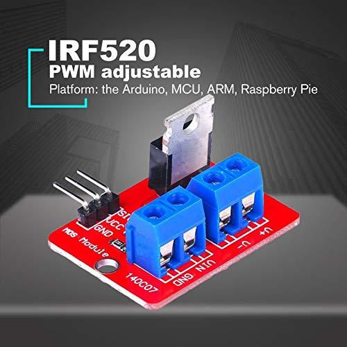 HoganeyVan 0-24 V Top Bouton Mosfet IRF520 MOS Pilote Module Module Pour Arduino MCU BRAS Raspberry Pi /Électronique Outil De Bricolage Gradation LED