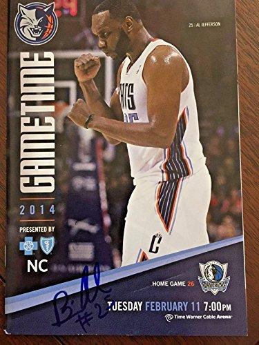 Al Jefferson Autograph signed Charlotte Hornets Magazine 2013 Bobcats - Autographed NBA Magazines