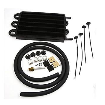 DealMux universal Kit de tubo 6 Fila Auto del radiador del coche convertidor de la transmisión del refrigerador de aceite: Amazon.es: Coche y moto