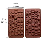 Silicone Letter Mold and Number Chocolate Molds