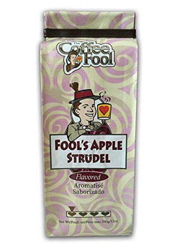 Flavored Coffee Drip 12 Oz - The Coffee Fool Drip Grind Coffee, Fool's Apple Strudel, 12 Ounce