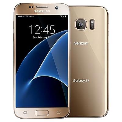Samsung Galaxy S7 G930V 32GB, Verizon, Gold Platinum, Unlocked Smartphones (Renewed)