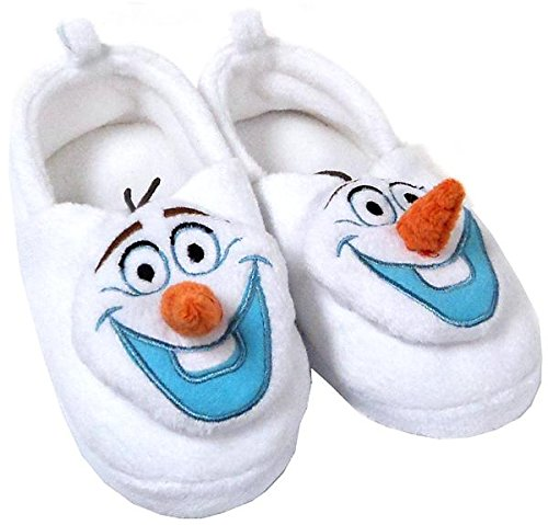 Disney Store Frozen Olaf Plush Slippers for Kids - Size 9/10