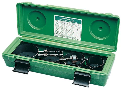 (Greenlee 835 Bi-Metal Hole Saw Kit, Conduit Sizes 1/2