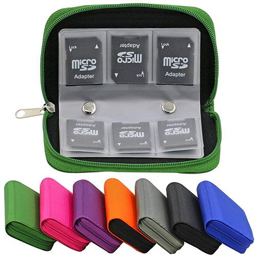Jiacheng29 SD SDHC MMC CF Micro SD Memory Card Storage Carrying Pouch Case Holder Wallet Sapphire Blue