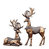 MS Crafts - European and American Style Deer Decoration Ornaments Home Living Room TV Cabinet Multifunctional Crafts Luxury Furnishings @ (Color : A)
