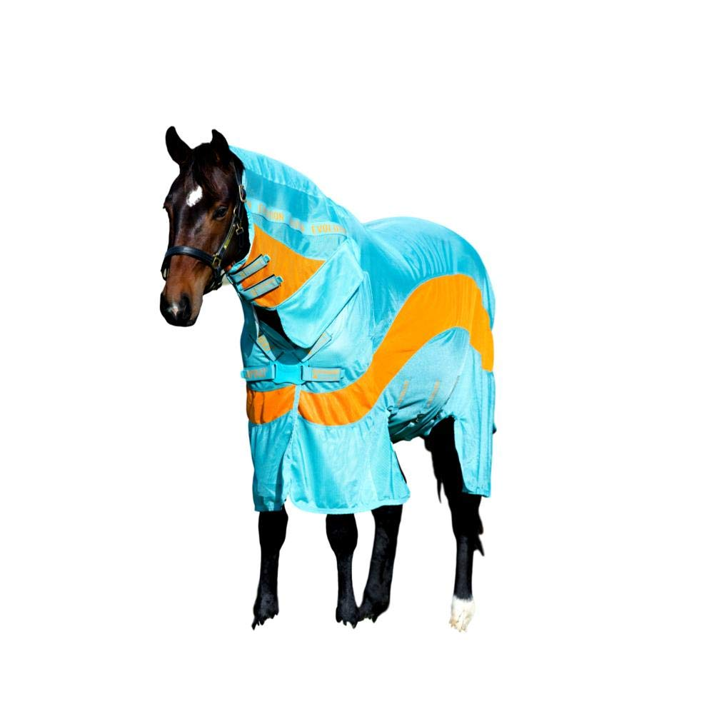 Horseware Ireland Amigo Evolution, Aqua/Orange, 78'' by Horseware