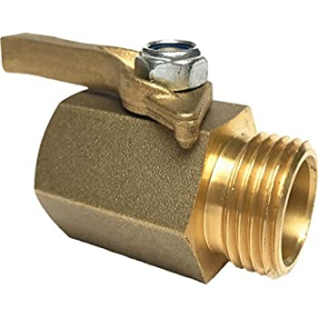 Happy Tree Super Heavy Duty Solid Brass Shut Off Ball Valve for Standard 3/4  GHT/NST/NH Thread Garden Hose Full Flow Sandblasting finish  sc 1 st  Amazon.com : garden hose shut off - www.happyfamilyinstitute.com
