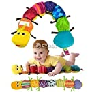 DDStore Colorful Musical Inchworm Developmental Baby Toy, Yellow