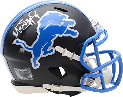 Matthew Stafford Detroit Lions Autographed Riddell Black Matte Alternate Speed Mini Helmet - Fanatics Authentic Certified