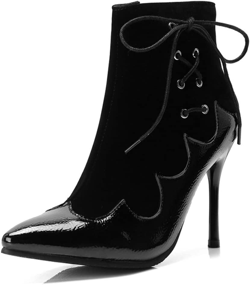 DANDANJIE Women Shoes Fall Winter Fashion Ankle Boots Stiletto Heel Pointed Toe Booties