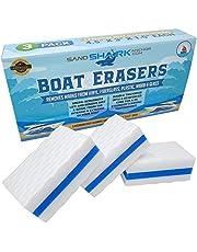 SAND SHARK SANDSHARKANCHOR.COM Premium Boat Erasers 3 Pack Removes Scuffs Marks Dirt & Grime Magically from Fiberglass Gelcoat Plastic Vinyl Great Gift Idea