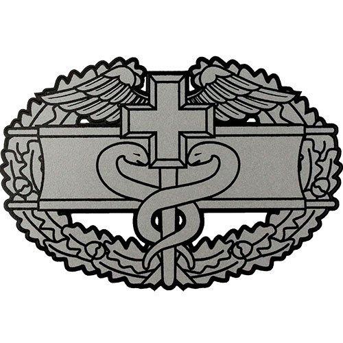 US Army Combat Medical Badge Clear Decal (Combat Badge Medic)