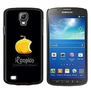 YiPhone /// Prima de resorte delgada de la cubierta del caso de Shell Armor - Calabaza anaranjada de Halloween caída del otoño Negro - Samsung Galaxy S4 Active i9295