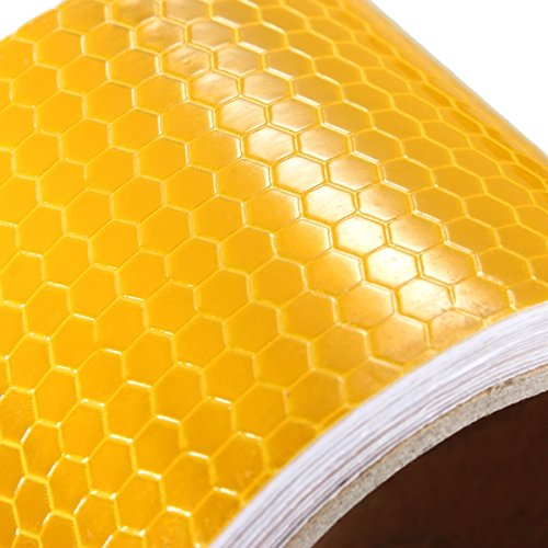 QOJA 3mx50mm yellow reflective safety warning conspicuity tape