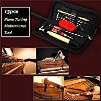 New 13pcs Professional Piano Tuning Maintenance Tool Kits Hammer Screwdriver with Case By KTOY