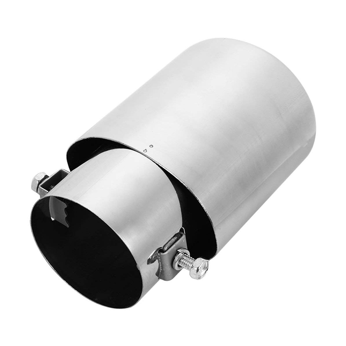 WEIWEITOE Car Tail Rear Straight Exhaust Muffler Pipe Tip Stainless Steel Chrome 63-76,metal,