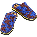 SHFORGU Women's Men's Manual Knitted Comfort Soft Warm Slippers Anti-Skid Indoors Knitting Wool Woollen Handicraf